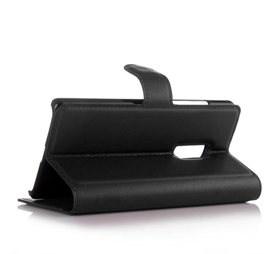OnePlus 2 Wallet Flip Case Schwarz