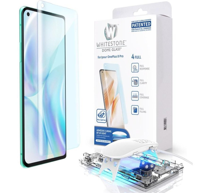 OnePlus 8 Pro Glazen Screen Protector Full Cover UV