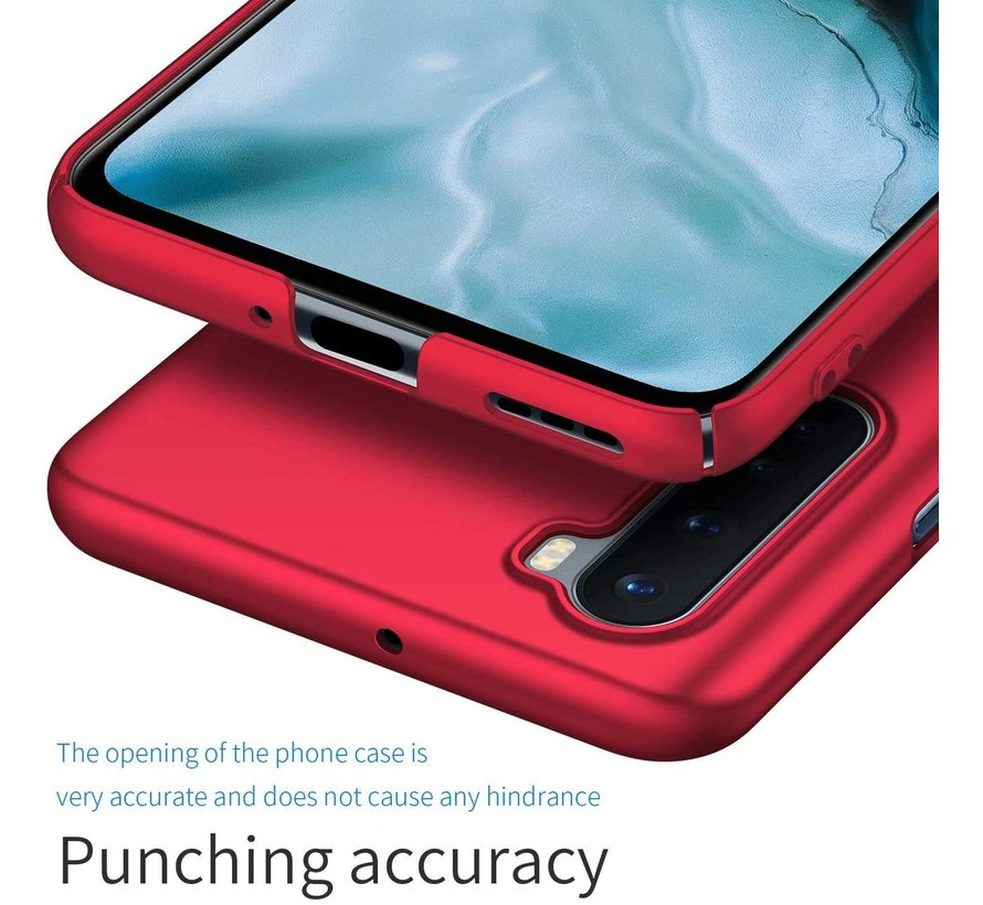 OnePlus Nord Hoesje Ultra Slim Grip Rood