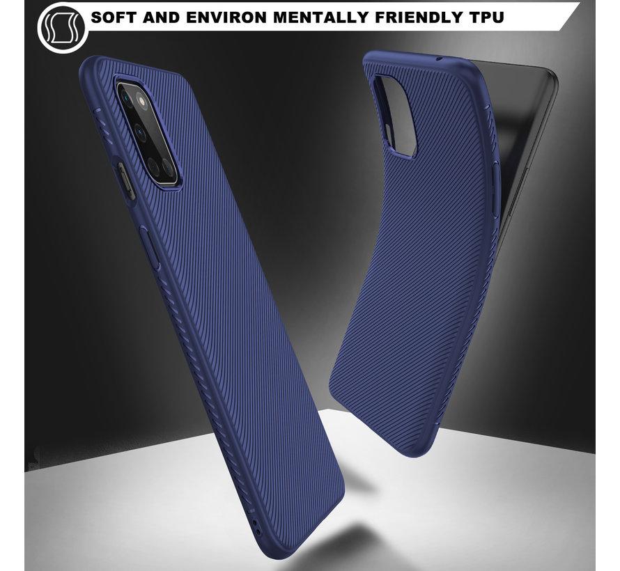 OnePlus 8T Hoesje TPU GripLine Blauw