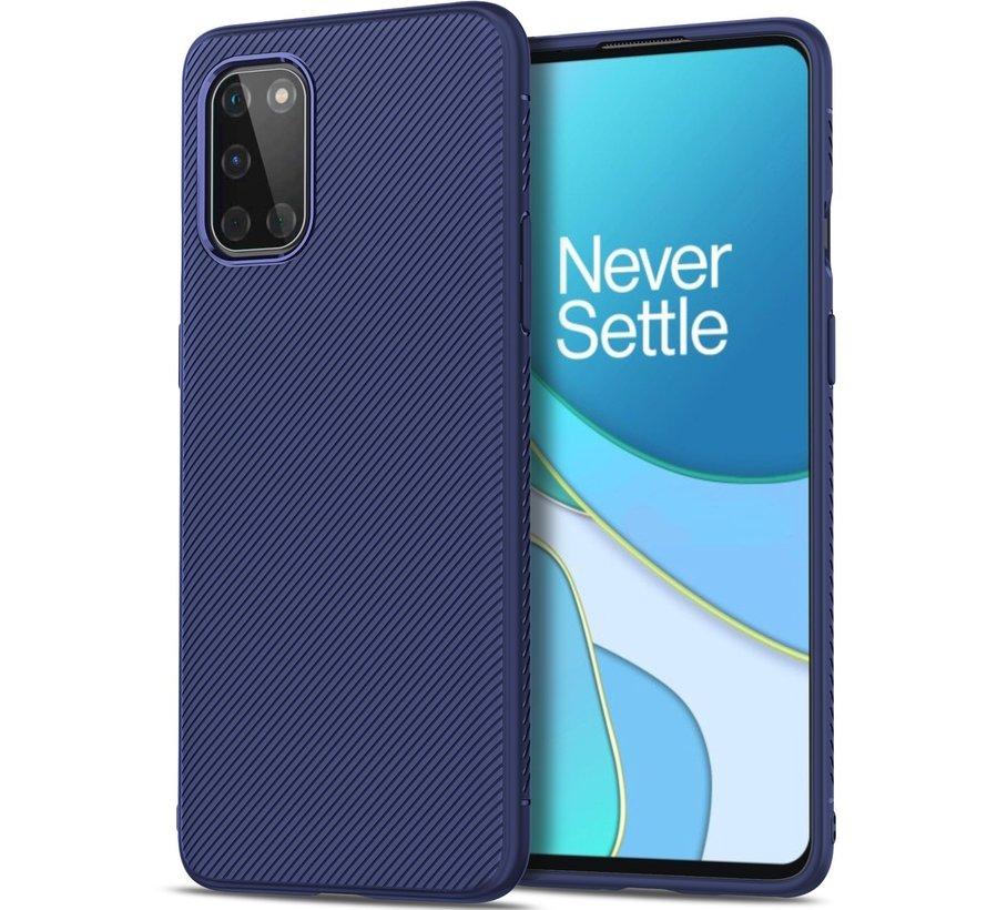 OnePlus 8T Case TPU GripLine Blau