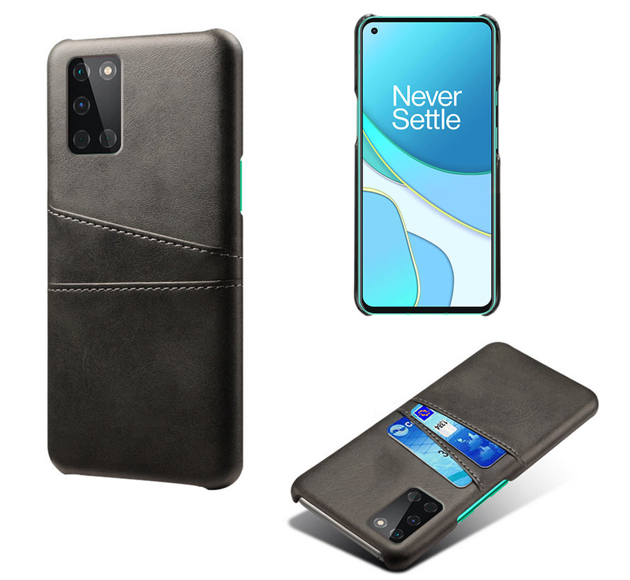 OnePlus 8T Case Slim Leather Card Holder Black