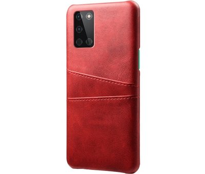 OPPRO OnePlus 8T Hoesje Slim Leder Kaarthouder Rood
