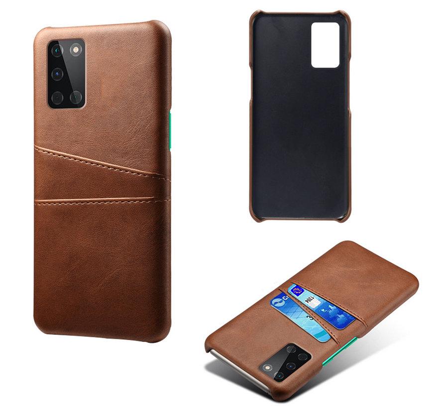 OnePlus 8T Case Slim Leder Kartenhalter Braun
