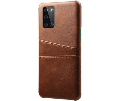 OPPRO OnePlus 8T Hoesje Slim Leder Kaarthouder Bruin
