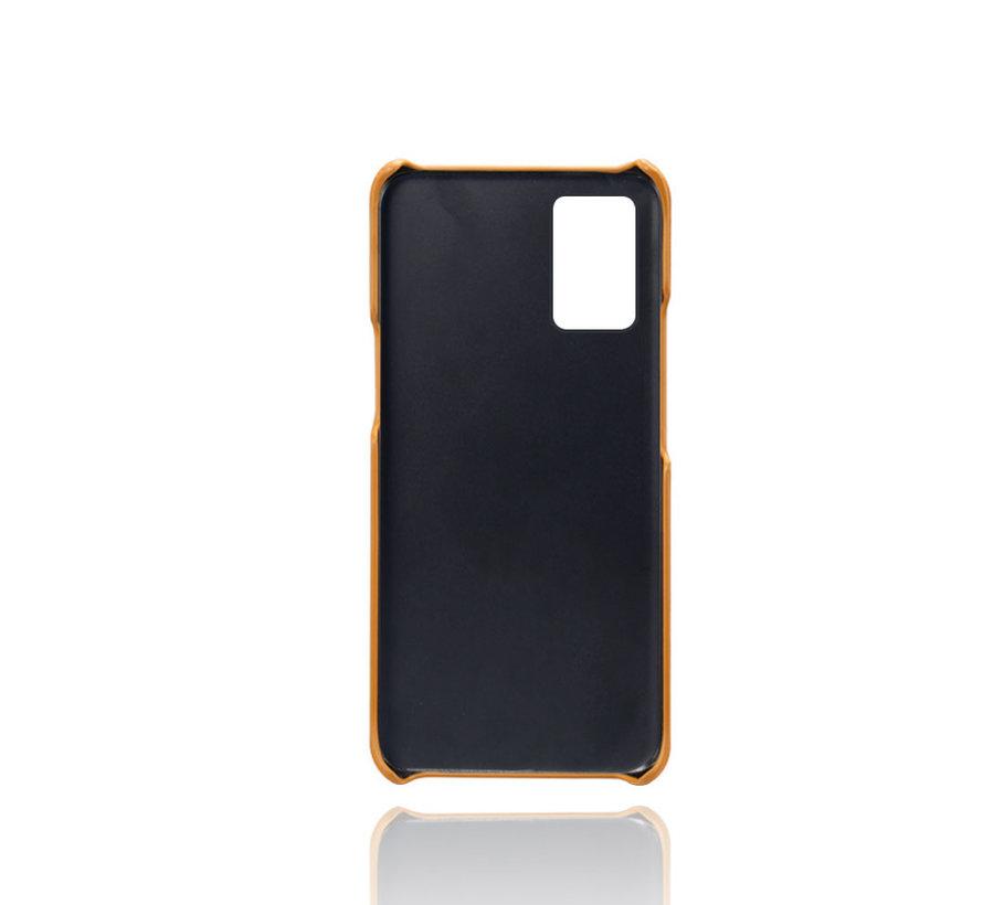 OnePlus 8T Hoesje Slim Leder Kaarthouder Cognac