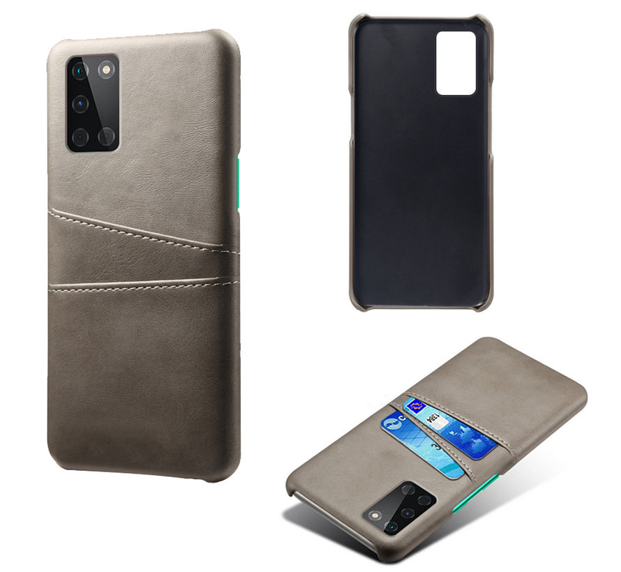 OnePlus 8T Case Slim Leather Card Holder Gray