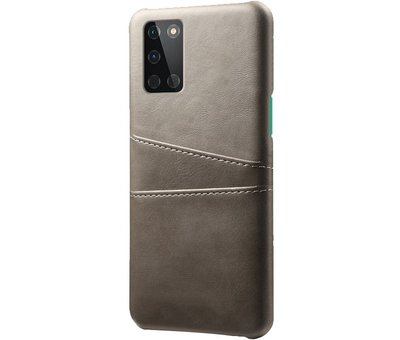 OPPRO OnePlus 8T Case Slim Leather Card Holder Gray