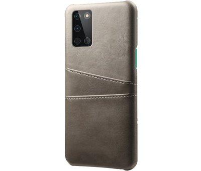 OPPRO OnePlus 8T Hoesje Slim Leder Kaarthouder Grijs