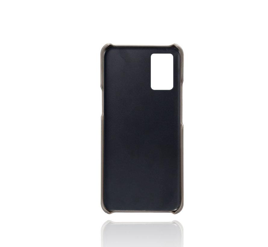 OnePlus 8T Case Slim Leder Kartenhalter Grau