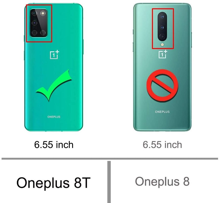 OnePlus 8T Hoesje Xtreme TPU Transparant