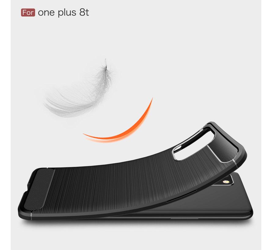 OnePlus 8T Gehäuse gebürstet Carbon Red