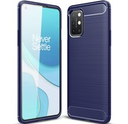 OPPRO OnePlus 8T Case Gebürstetes Carbonblau