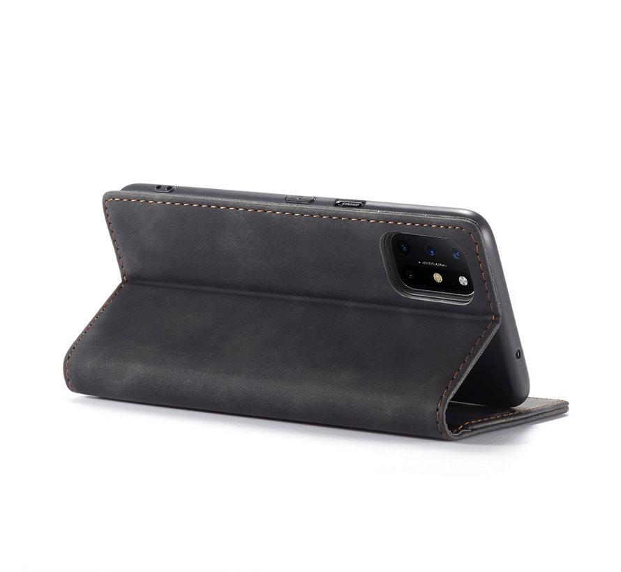 OnePlus 8T Wallet Hoesje Vintage Leder Zwart