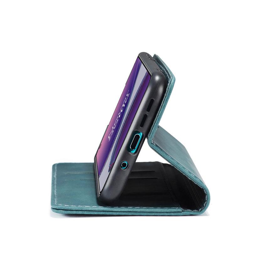 OnePlus 8T Brieftasche Vintage Leder Blau