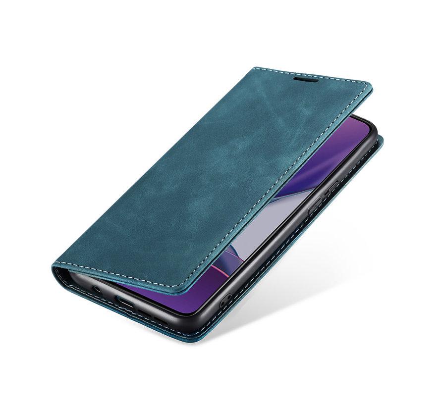 OnePlus 8T Wallet Hoesje Vintage Leder Blauw