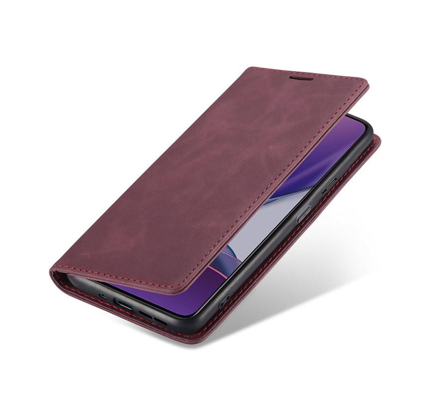 OnePlus 8T Brieftasche Vintage Leder Rot