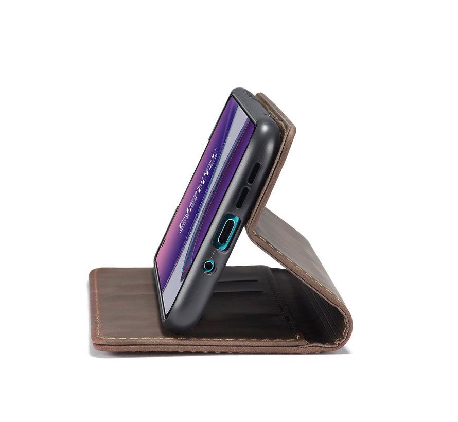 OnePlus 8T Brieftasche Vintage Leder Braun