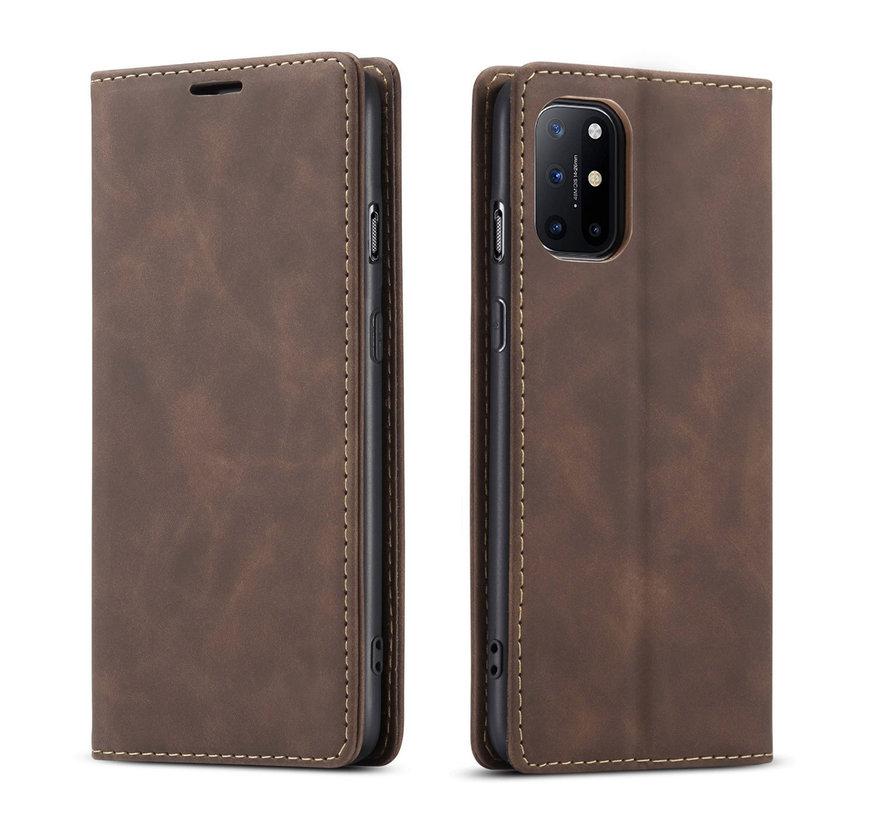 OnePlus 8T Wallet Hoesje Vintage Leder Bruin