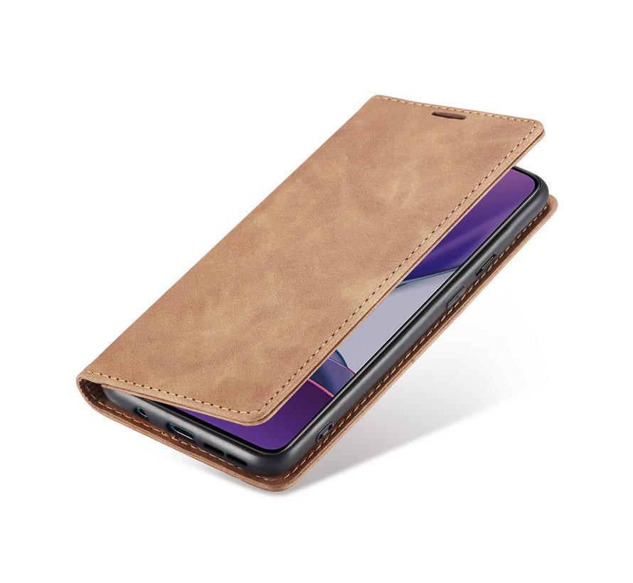 OnePlus 8T Wallet Hoesje Vintage Leder Beige