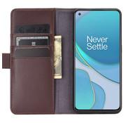 OPPRO OnePlus 8T Wallet Hoesje Echt Leder Bruin