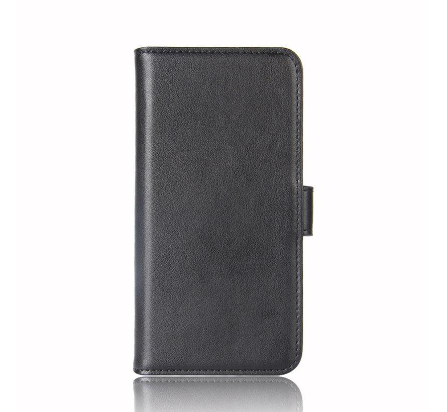 OnePlus 8T Wallet Case Echtleder Schwarz