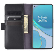 OPPRO OnePlus 8T Wallet Case Genuine Leather Black
