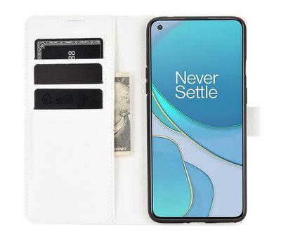 OPPRO OnePlus 8T Wallet Flip Case Weiß