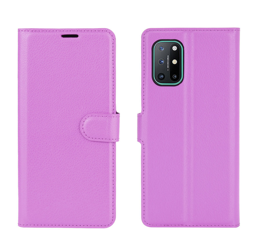 OnePlus 8T Wallet Flip Case Paars