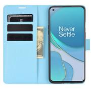 OPPRO OnePlus 8T Wallet Flip Case Blauw