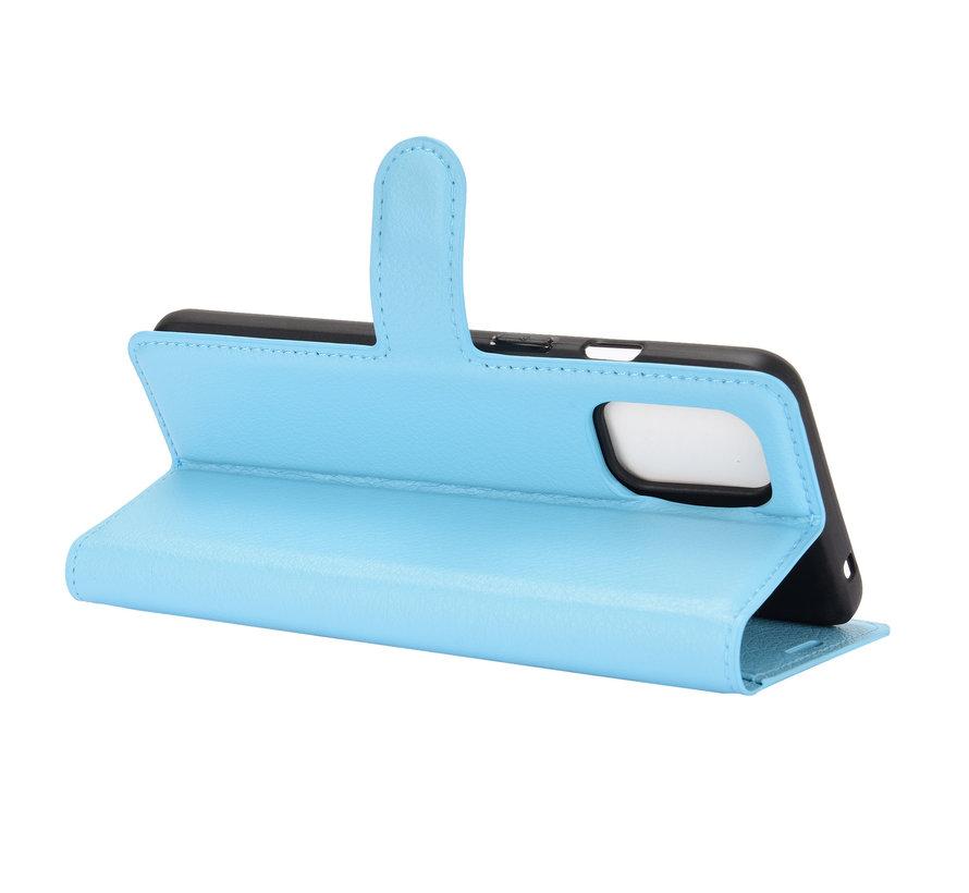 OnePlus 8T Wallet Flip Case Blauw