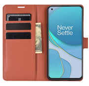 OPPRO OnePlus 8T Wallet Flip Case Braun