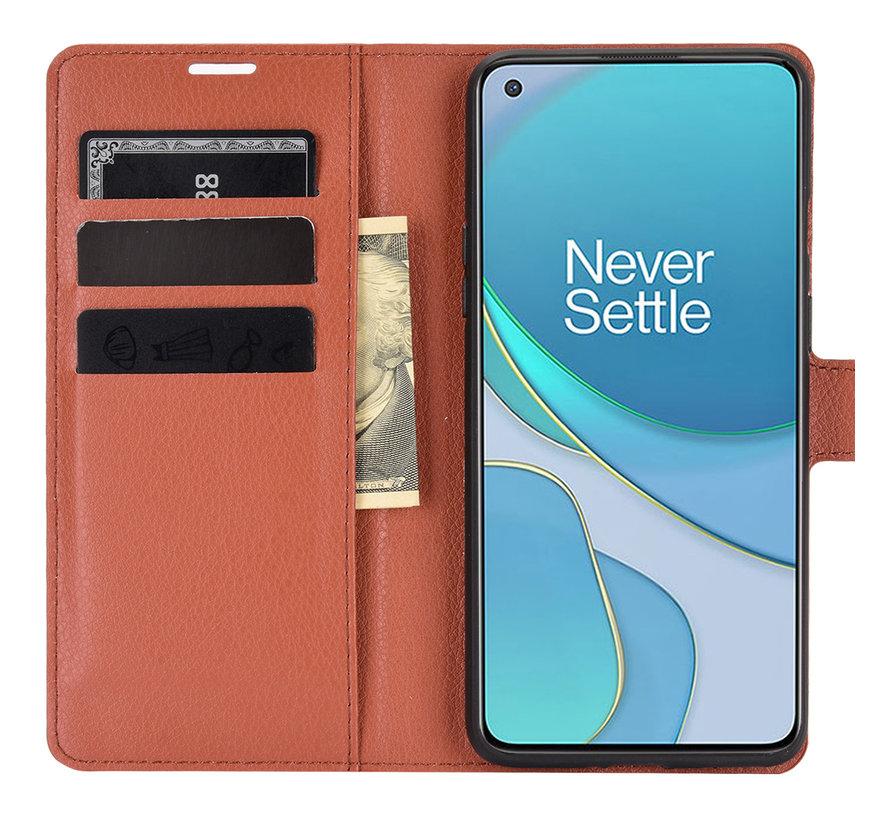 OnePlus 8T Wallet Flip Case Braun