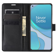 OPPRO OnePlus 8T Wallet Flip Case Zwart