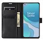 OnePlus 8T Wallet Flip Case Zwart