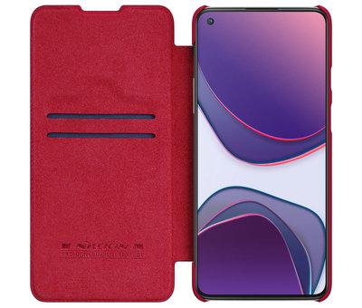 Nillkin OnePlus 8T Flip Case Qin Rood