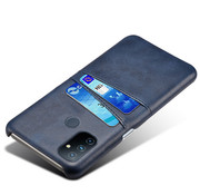 OPPRO OnePlus Nord N100 Case Slim Leder Kartenhalter Blau