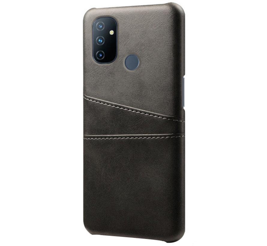 OnePlus Nord N100 Hoesje Slim Leder Kaarthouder Zwart