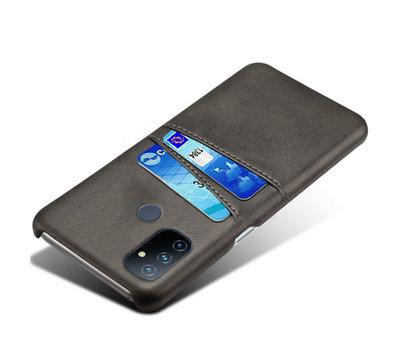 OPPRO OnePlus Nord N100 Hoesje Slim Leder Kaarthouder Zwart
