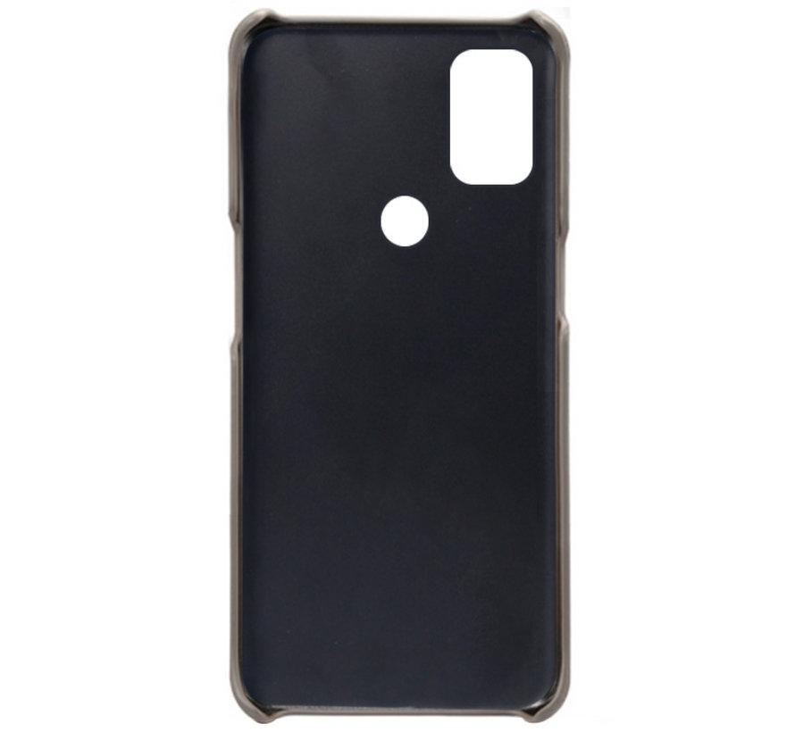 OnePlus Nord N10 5G Hoesje Slim Leder Kaarthouder Grijs