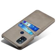 OPPRO OnePlus Nord N10 5G Case Slim Leder Kartenhalter Grau