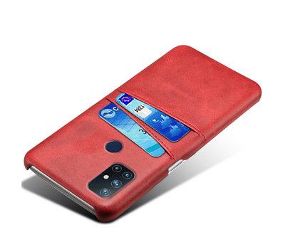 OPPRO OnePlus Nord N10 5G Case Slim Leder Kartenhalter Rot