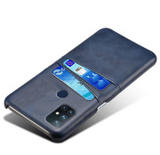OPPRO OnePlus Nord N10 5G Hoesje Slim Leder Kaarthouder Blauw