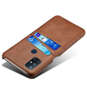OPPRO OnePlus Nord N10 5G Case Slim Leder Kartenhalter Braun
