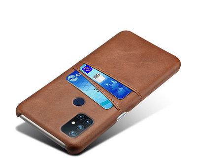 OPPRO OnePlus Nord N10 5G Hoesje Slim Leder Kaarthouder Bruin