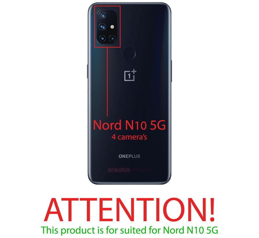 OnePlus Nord N10 5G Hoesje Slim Leder Kaarthouder Bruin