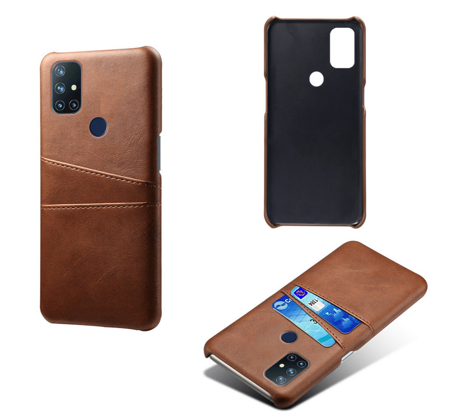 OnePlus Nord N10 5G Case Slim Leder Kartenhalter Braun