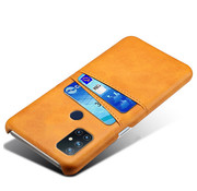 OPPRO OnePlus Nord N10 5G Case Kartenhalter  Leder Cognac