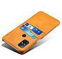 OnePlus Nord N10 5G Case Kartenhalter aus schmalem Leder Cognac