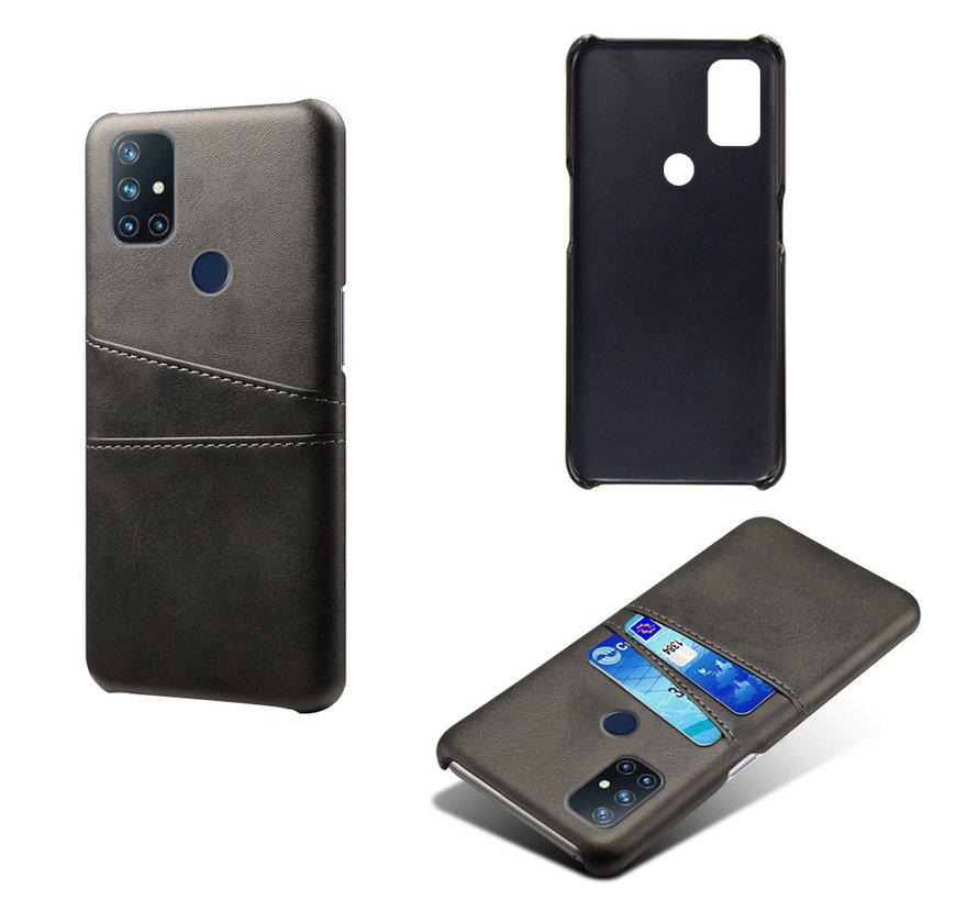 OnePlus Nord N10 5G Case Slim Leder Kartenhalter Schwarz